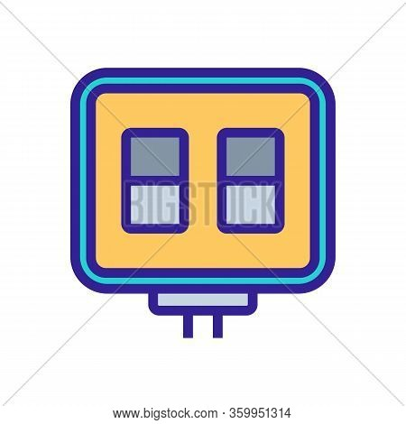 Scoreboard Icon Vector. Scoreboard Sign. Color Contour Symbol Illustration
