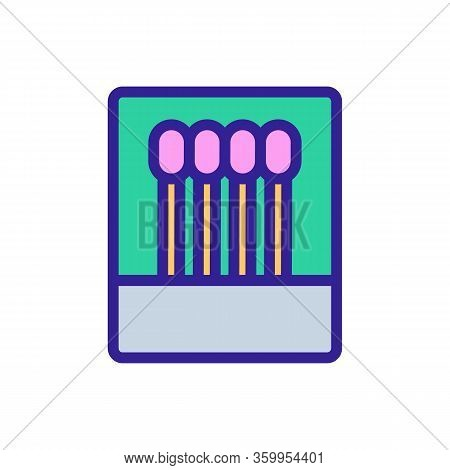 The Match Burnt Icon Vector. The Match Burnt Sign. Color Contour Symbol Illustration