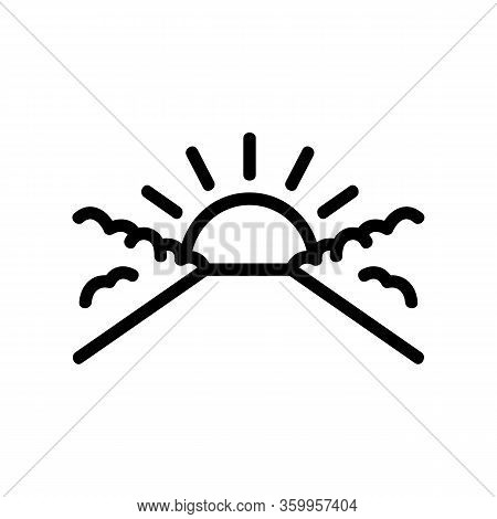 Sunset Sky Icon Vector. Sunset Sky Sign. Isolated Contour Symbol Illustration