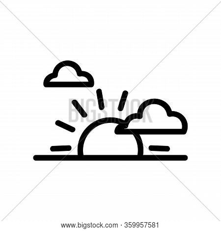 Sunset Clouds Icon Vector. Sunset Clouds Sign. Isolated Contour Symbol Illustration