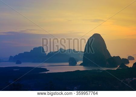 Beautiful View Of Phang Nga Bay From Samed Nang Chee A New Viewpoint In Phang Nga Province Is Turnin