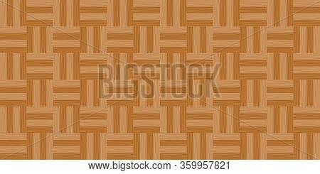 Parquet Wooden Flooring In Top View For Background, Illustration Parquet Floor Empty, Wooden Panel T