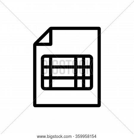 Scoreboard Sport Icon Vector. Scoreboard Sport Sign. Isolated Contour Symbol Illustration