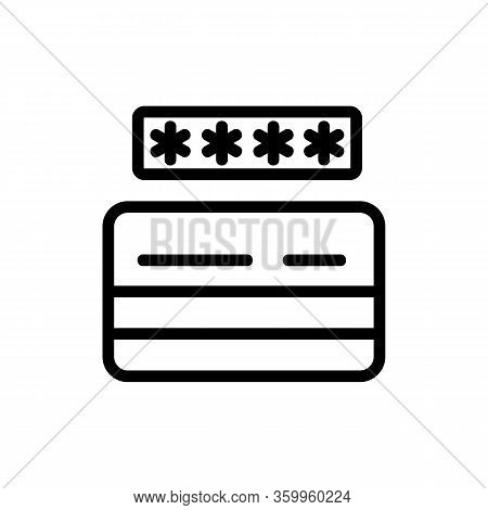 Password Card Icon Vector. Password Card Sign. Isolated Contour Symbol Illustration