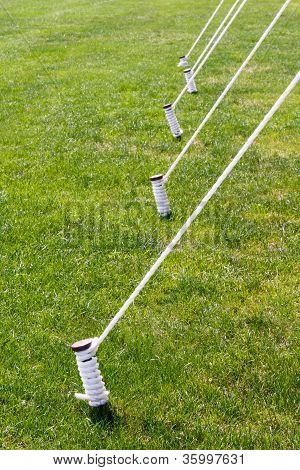 Five Tied Tent Stakes