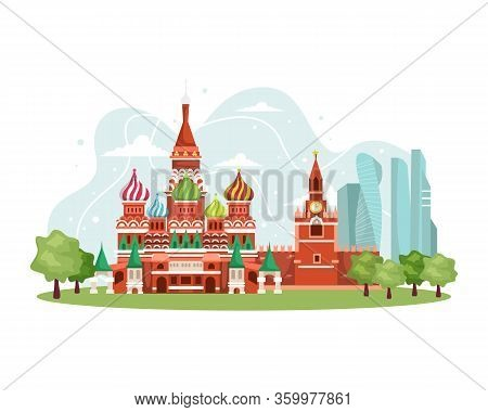 Vector Illustration Russia Landmark