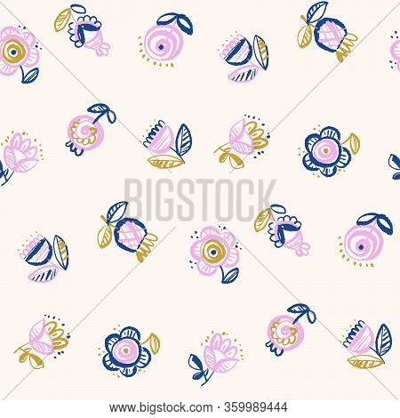 Pale Nude Rose Color Floral Seamless Pattern For Background, Wrap, Fabric, Textile, Wrap, Surface, W