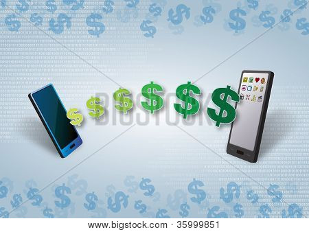 Smartphones Mobile Money and Credit Transfer