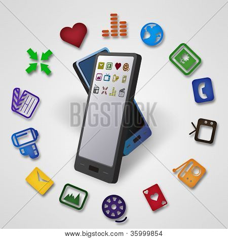 Two Smartphones Mobile Data Transfer
