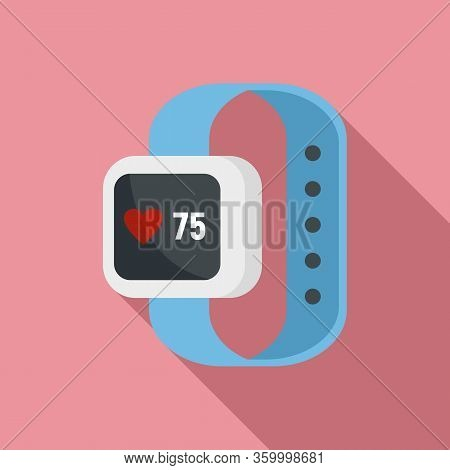 Smartwatch Icon. Flat Illustration Of Smartwatch Vector Icon For Web Design