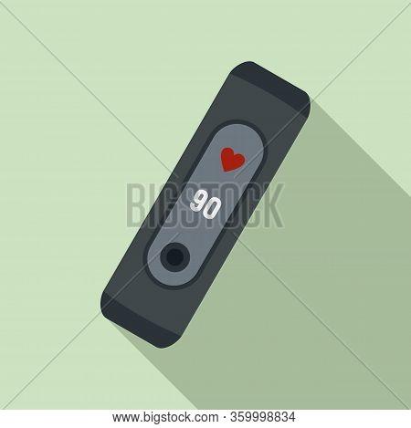 Technology Smart Bracelet Icon. Flat Illustration Of Technology Smart Bracelet Vector Icon For Web D