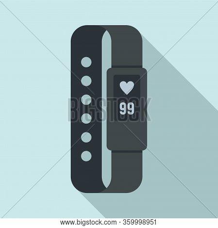 Digital Bracelet Icon. Flat Illustration Of Digital Bracelet Vector Icon For Web Design