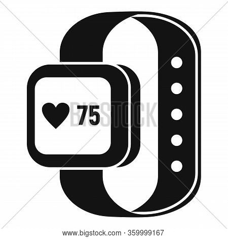 Smartwatch Icon. Simple Illustration Of Smartwatch Vector Icon For Web Design Isolated On White Back