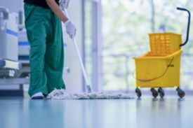Hospital Cleaning,cleaning The Hospital Floor.