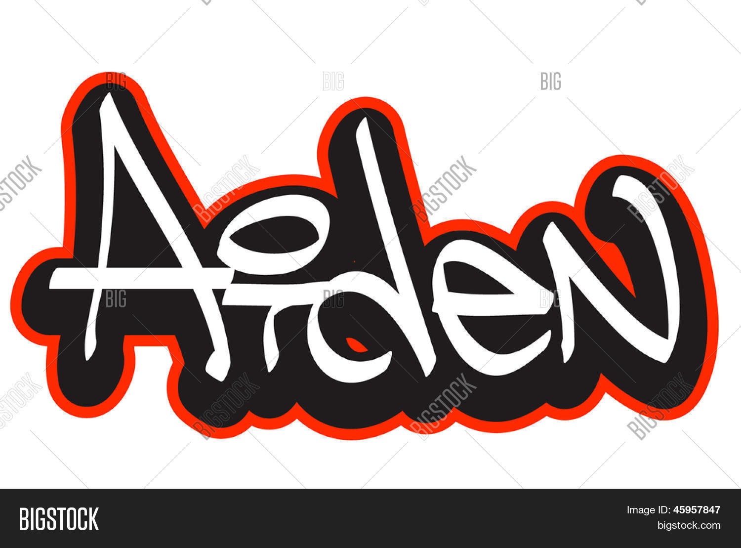 Aiden graffiti font vector photo free trial bigstock aiden graffiti font style name hip hop design template for t shirt thecheapjerseys Image collections