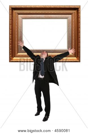 Businessman And Picture Frame Baget Collage