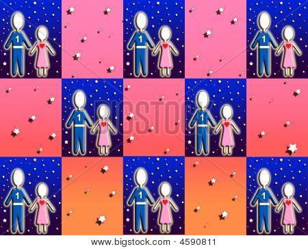 Children Starry Checkers
