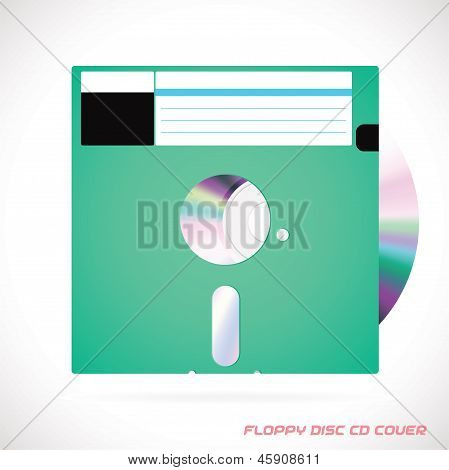 Floppy Disc With Compact Disc
