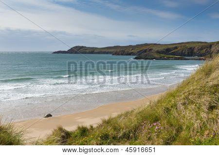Whitesands Bay near St Davids West Wales UK