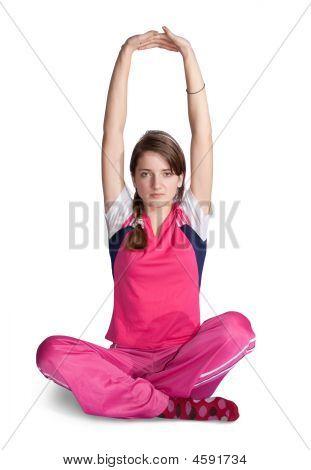 Girl Doing Fitness Exercises