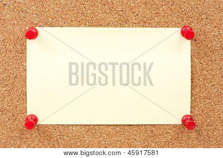Thumbtacks And Note Paper