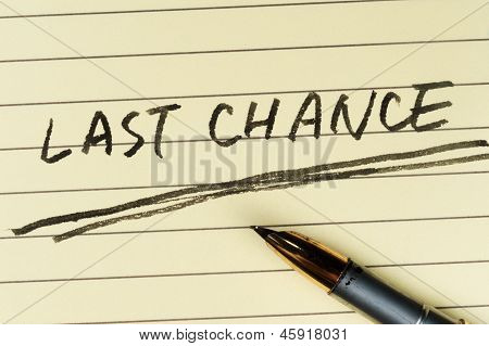 Last Chance Words