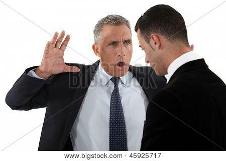 Chef Mitarbeiter angeschrien