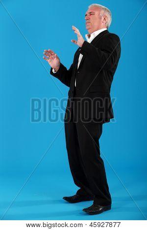 Disdainful businessman