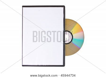 Disk With Dvd Box Isolated On White Background