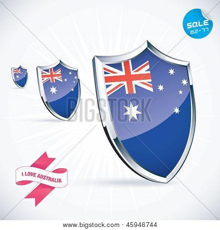 I Love Australia Flag Illustration
