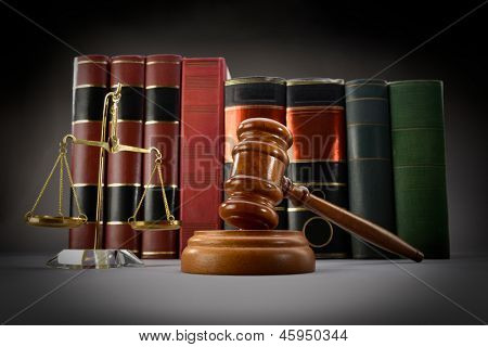 Law Books and Symbols