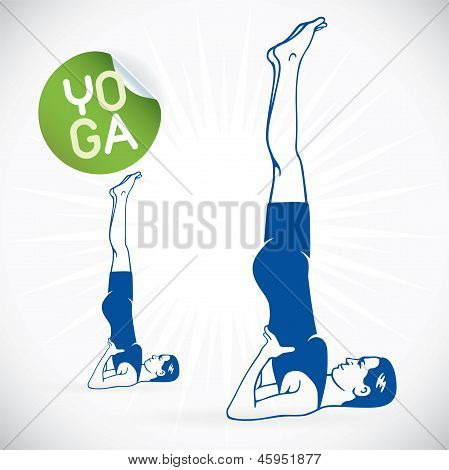 Yoga Model Illustration