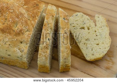 Soda Bread  Sliced 02-close Up
