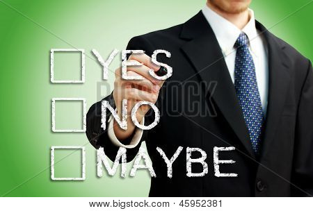 Businessman With Checkboxes