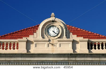 Courthouse Clock Detail