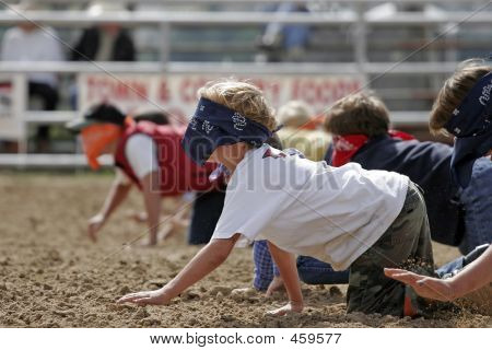Kids Crawl Blindfold