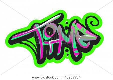 Graffiti vector art urban design element