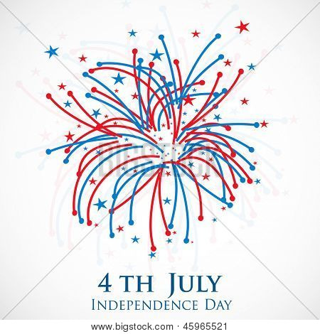 4th of July, American Independence Day celebration background.