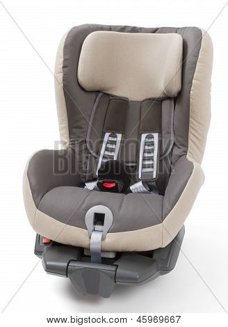Booster Seat For A Car In Light Background