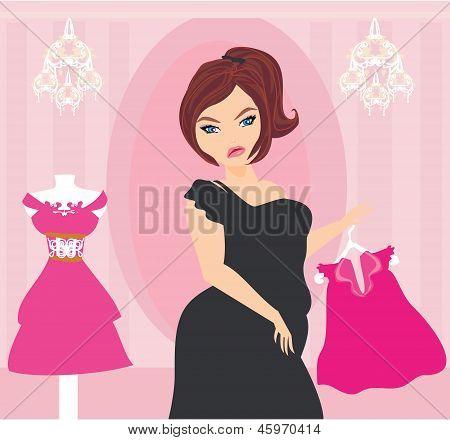 Full Lady Chooses Dresses