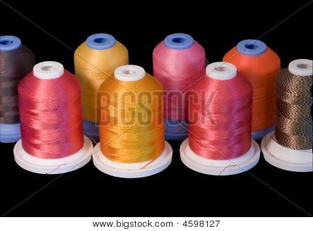 Colorful Thread On Black
