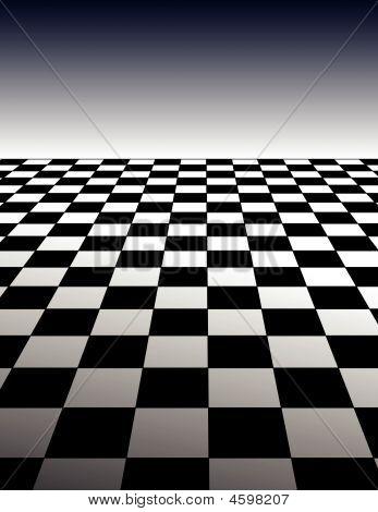 Checker Board Pattern Background - Vector Illustration