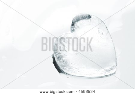 Ice Heart Close-up