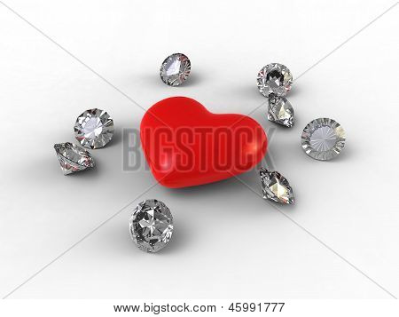 Petal Heart And Jewelry