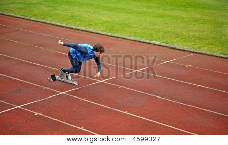 Runner Off The Starting Block