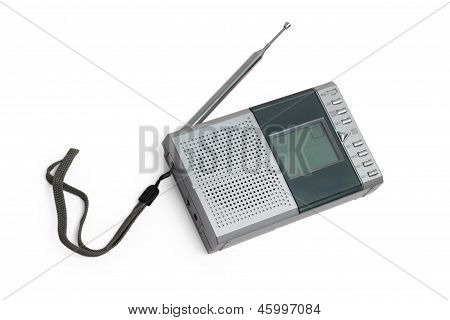 radio portable transistor fm old tuner set isolated fashioned