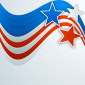 4th of July, American Independence Day background with stars. poster
