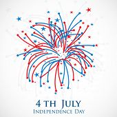 4th of July, American Independence Day celebration background. poster
