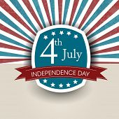 4th of July, American Independence Day flyer, poster or background. poster