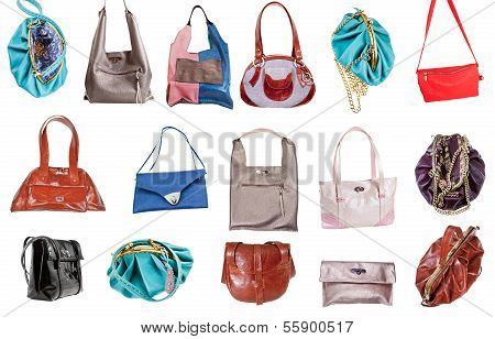Set Of Ladies Handbags